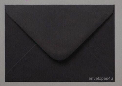 50 Noir Mini Enveloppes 62 x 94 mm-Idéal pour les mariages-Save the dates