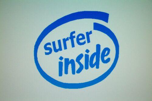 Surfer Inside Vinyl Decal Sticker Surfboard Wetsuit