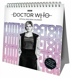 Doctor-Who-Escritorio-caballete-2020-pagina-un-mes-calendario-Carpa-BBC-TV-Series-Dr-Daleks