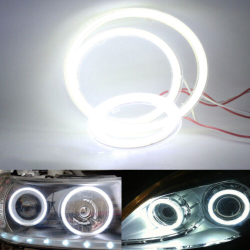 1pc 70MM Car 60Led Headlight COB LED Halo Ring Angel Eyes Fog DRL Warning Lamps