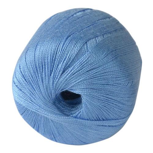 Mercerized Lace Cotton Cord Thread Yarn Embroidery Crochet Knitting DIY Threads
