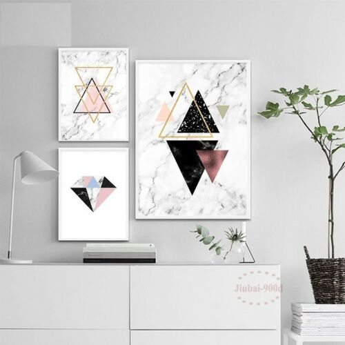 Wall Painting Marble Abstract Posters Art Canvas Living Room Pictures Home Decor