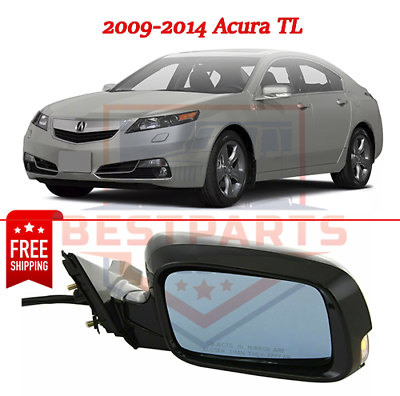 Power Mirror For 2009-2014 Acura TL Left Side Manual Folding With Signal Light