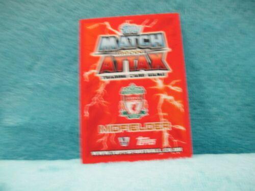 Match Attax Attack 12//13 2012//13 #504 Steven Gerrard CENT 100 club Comme neuf CARD