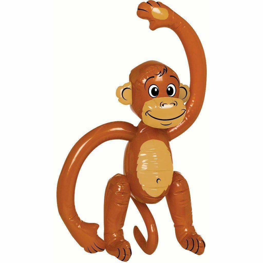 Inflatable Monkey 58cm Party Fancy Dress Prop Animal Jungle