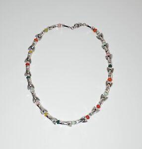 Collar-de-cordon-cuero-collar-cola-de-pez-plateado-collar-uno-no-de-50-estilo