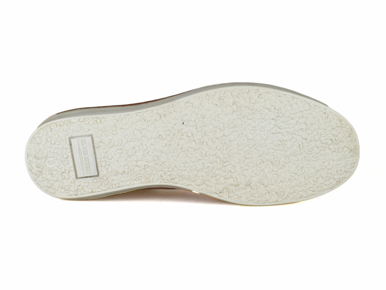 Argent Street Londres Gower Hommes Cuir Marron Chaussures décontractées décontractées décontractées 848515