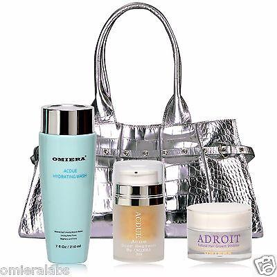 Acdue Acne Treatment + Facial Wash Cleanser + Hair Inhibitor Cream