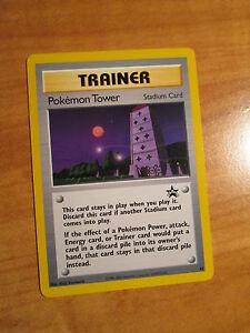 NM POKEMON TOWER Card BLACK STAR PROMO Set #42 Trainer Stadium League WOTC