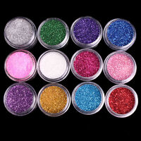 Fine Powder Dust Glitter Nail Art Face Body Eye Shadow Craft Paint Iridescent
