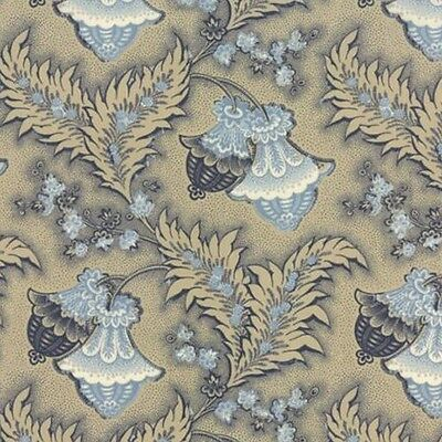 Moda French General Rue Indienne Colette Fabric in Natural Indigo 13682-16