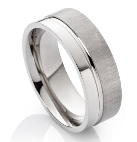 Verlobungsring Partnerring Titanring Damen Herren 8mm mit Ringgravur HT001