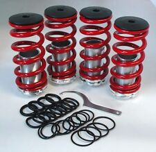 Front Rear Suspension Coilover Lowering Spring Sleeve Kit Honda 88-00 Civic Red