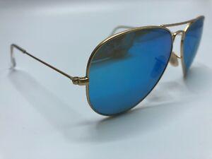 Ray-Ban-Aviator-Sunglass-Frames-RB3025-112-4L-3P-58-14mm-Gold-Blue-FRAME-1071
