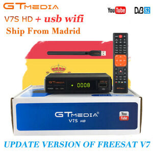 GTMEDIA DVB S2 V7S+Wifi Satellite Receiver Digital Full HD 1080p Youtube Bisskey