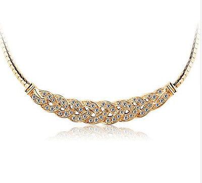 Women Jewelry Pendant Chain Crystal Choker Chunky Statement Bib Charm Necklace
