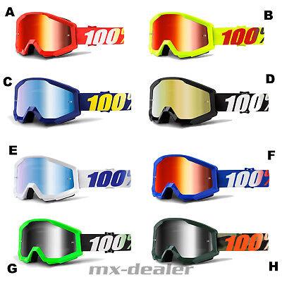 100% Occhiali 2019 Strata Motocross Enduro Downhill Mtb Bmx Cross Mx-mostra Il Titolo Originale Modellazione Duratura