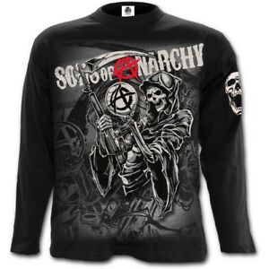 065fc4b8dce SPIRAL Sons of Anarchy REAPER MONTAGE Long sleeve T-Shirt SOA Biker ...