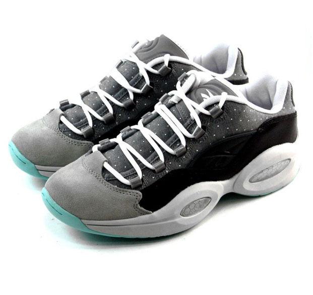 Reebok Question Niedrig R13 Leder Schuhe Turnschuhe Sneakers grau Leder R13 NEU db68af