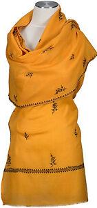 Kashmir-Schal-hand-bestickt-hand-embroidered-100-Wolle-wool-foulard-scarf