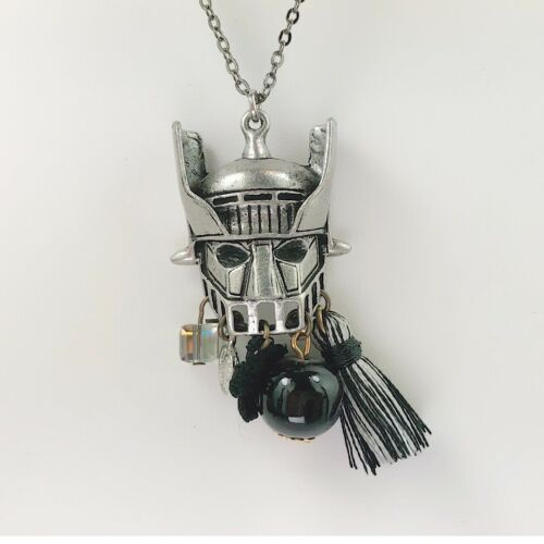 Beatiful Vintage Style Retro Voltron Mazinger Z Face Long Necklace