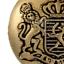 10 PZ Metallo Bottoni STEMMA 22mm TONDO Antico Oro Bottoni Royal bottone zinco