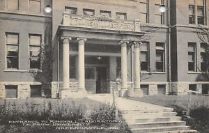Greencastle-Indiana-DePauw-University-Minshall-University-1910-B-amp-W-Albertype-PC