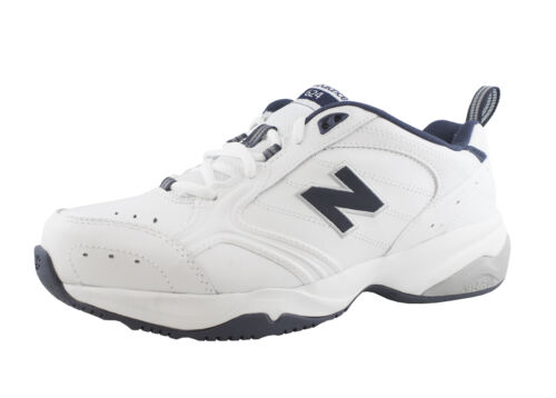 Men/'s New Balance 624 Shoe Wide 4E White//Navy