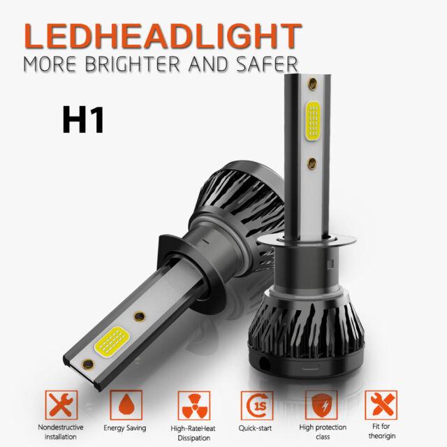 LED Headlight Kit H1 White 6500k Low Beam 36w Bulbs For