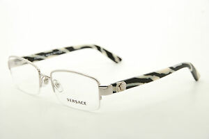 c1bbc8fb6cf8 Image is loading New-Authentic-Versace-1185-B-1000-Silver-Stripe-