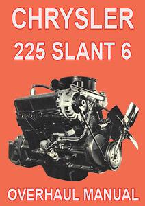 chrysler 225 slant 6 engine overhaul manual ebay. Black Bedroom Furniture Sets. Home Design Ideas