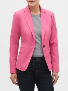 NWT-Banana-Republic-Factory-sz-10-Hot-Pink-Washable-Cutaway-Blazer-Jacket