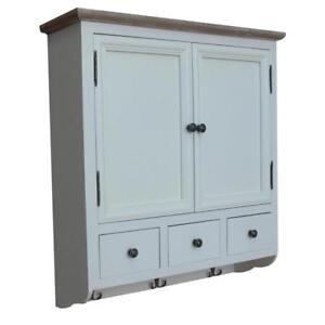 Dettagli su ETNICART.IT® Mobiletto bianco da parete per cucina - bagno -  70x77x22 - Alta qua