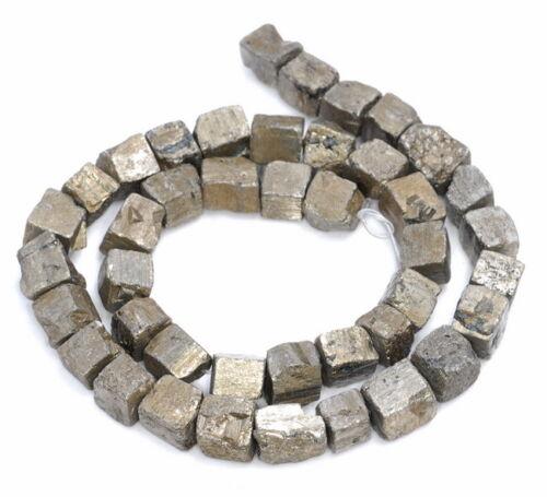 10MM Pyrit Edelstein Robust Nugget Würfel Locker Perlen 38.1cm