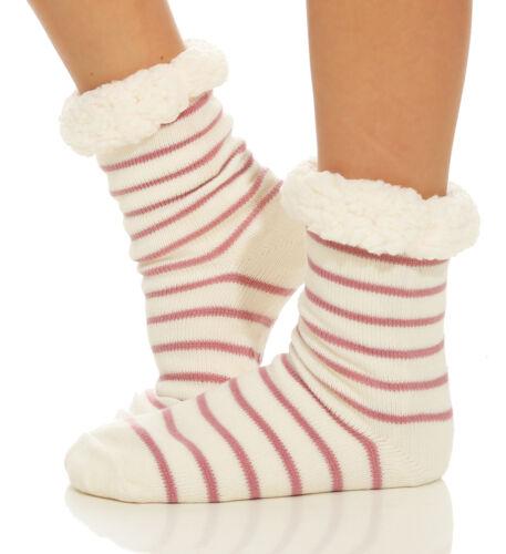 Damen Hüttensocken Hausschuhe Kuschelsocken Socken Strümpfe Warm  ABS Stern