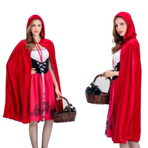 Halloween Little Red Riding Hood Party Fancy Dress Adult Women Costume