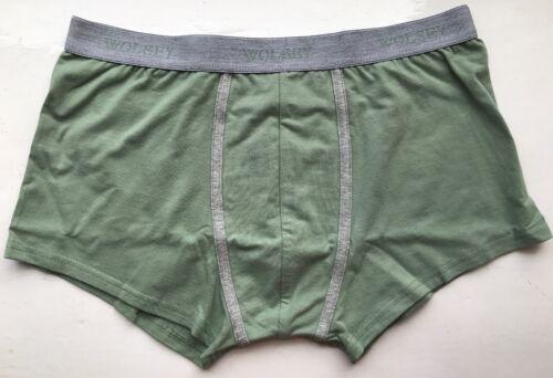 Green XL U332 Wolsey Men/'s Low Rise Trunk