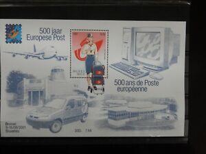 BELGIQUE  BELGIUM  BELGIE BL 91 **  2001 500 JAAR EUROPESE POST    1 x 3.72 €  /