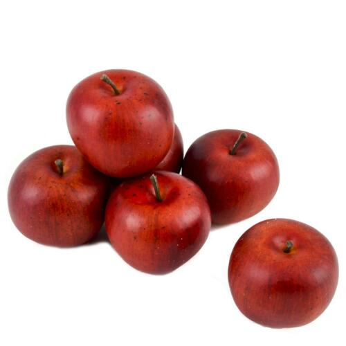 Apfel Deko 6er Box Kunststoff 6x6x6cm rot Naturdeko Xmas Weihnachten