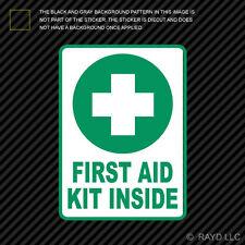 First Aid Kit Inside Sticker Die Cut Decal Self Adhesive Vinyl emergency rescue