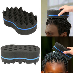 High Quality Double Sided Barber Hair Brush Sponge Dreads Locking Twist Coil Afro Curl Wave Packing Of Nominated Brand Cleaning Appliance Parts
