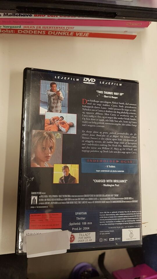 Spartan, DVD, action