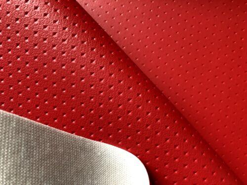 PM Sternchen Perforation Kunstleder Meterware Farbe ROT mit Kasten
