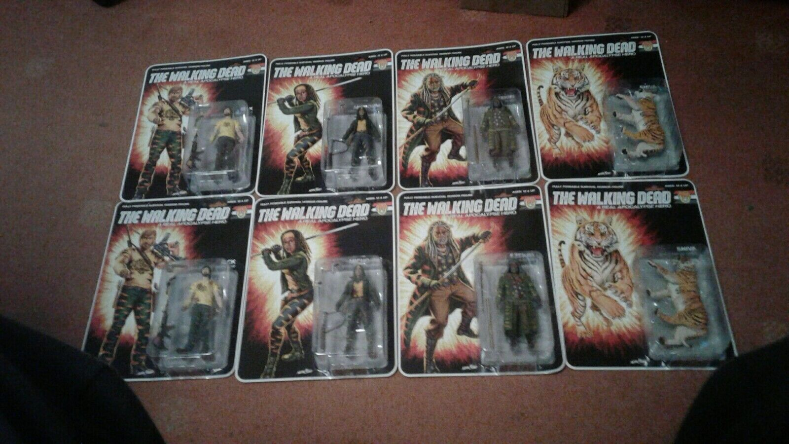 The Walking Dead Shiva Force Set Of 8 Figures Normal And Bloody