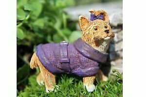 Miniature Dollhouse FAIRY GARDEN Accessories Yorkshire Terrier