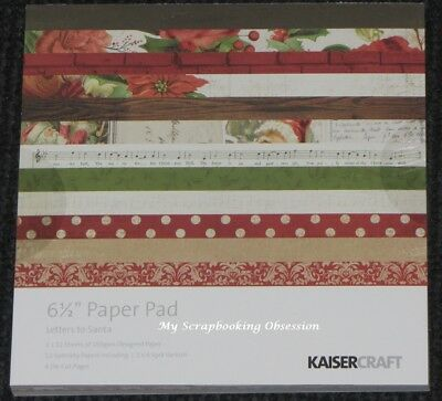 """Kaisercraft /'LETTERS TO SANTA/' 6.5/"""" Paper Pad Xmas KAISER *Deleted 10 left*"""
