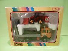 GIODI 73073 FIAT TRUCK + SHOVEL - ORANGE GREY RED 1:35 - VERY GOOD IN BOX - RARE