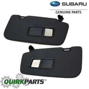 OEM 2013-2014 Subaru Impreza WRX STi Left   Right Hand Sun Visor SET ... 64bff603d3f