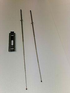 Schaub-Roehrenkofferradio-Bakelit-Camping-II-davon-Antennen-Gebraucht-Ersatzteil