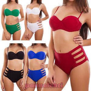 6aa6f52781968 Bikini Femme Maillot de Bain Culotte Push-Up Mer Taille Haute ...